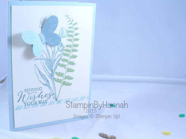 Stampin' Up! UK Butterfly Basics Thinking of you sympathy card
