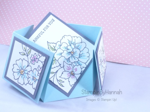 Stampin' Up! UK Double Diamond Fold Card I Like You