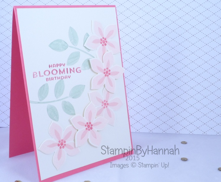 Stampin' Up! UK flower patch birthday