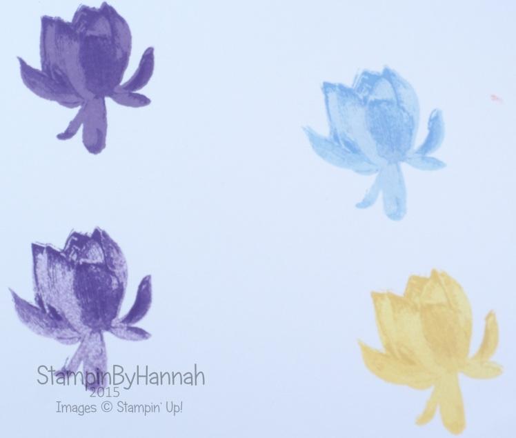 Stampin' Up! lotus Blossom