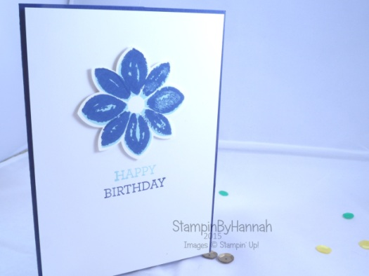 Stampin' Up! UK Petal Potpourri happy birthday
