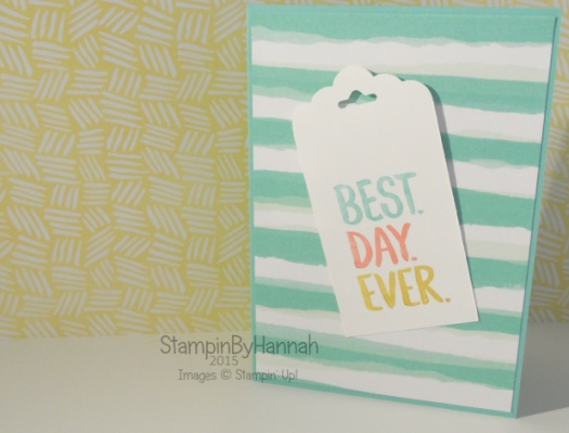 Stampin' Up! UK Sale-a-bration on sunday Best day ever