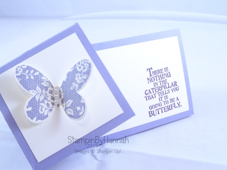Stampin' Up! UK Twist Turn card Butterfly Basics