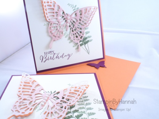 Stampin' Up! UK Twisted Easel Card Butterfly Basics In Collours