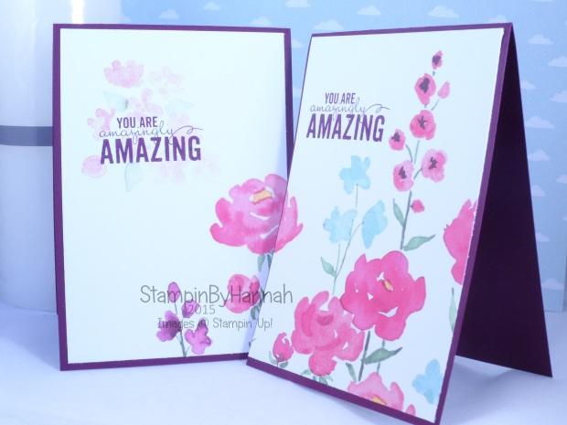 Stampin' Up! UK Painted Bloom Petals 6 cards from one DSP