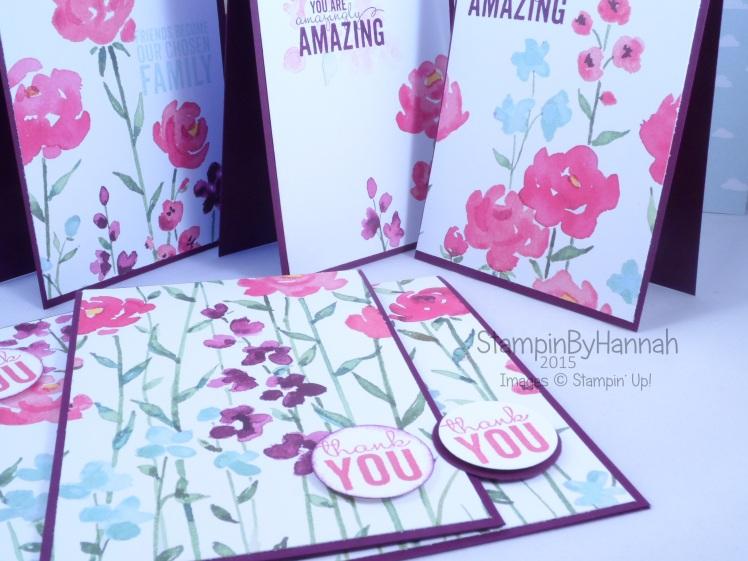 Stampin' Up! UK painted blooms petals giveaway