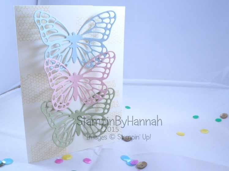 Stampin' Up! UK Butterfly Thinlits dies Butterfly Basics