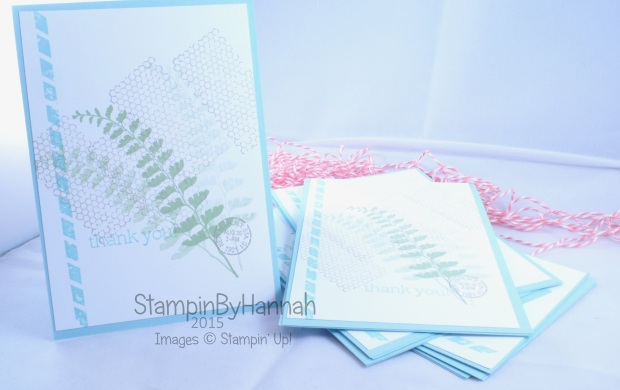 Stampin' Up! UK butterfly Basics thank you