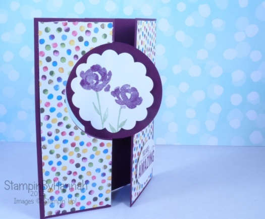 Stampin' Up! UK Thinlit Circle Card extended Painted Petals