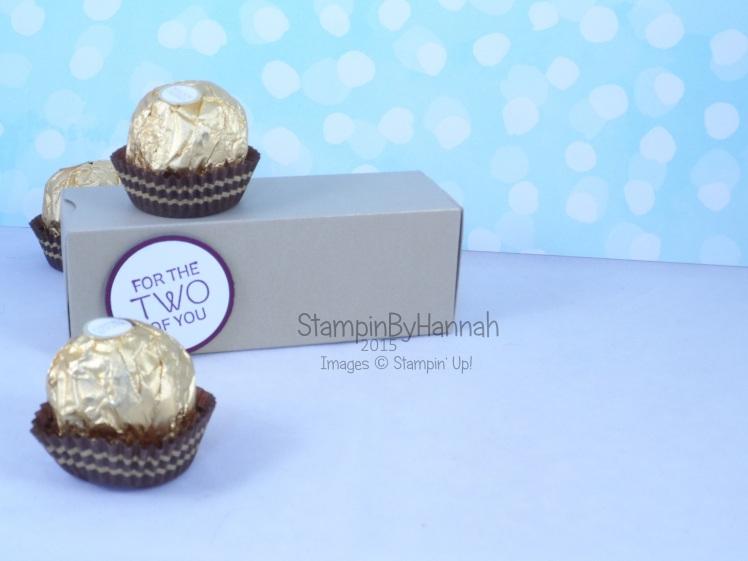 Stampin' Up! UK Ferrero Rocher box chocolate video tutorial