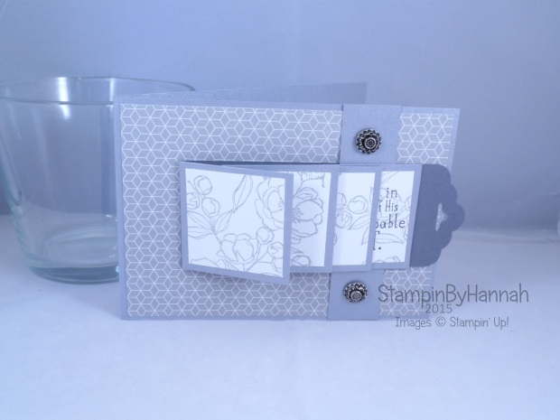 Stampin' Up! UK Waterfall card Indescribable Gift