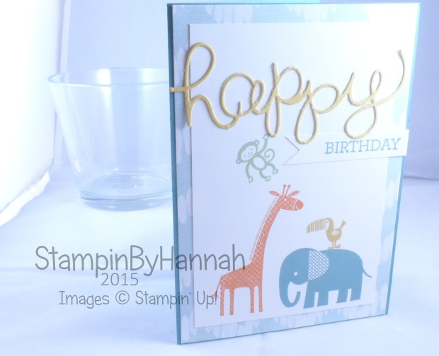 Stampin' Up! UK Zoo Babies Hello You