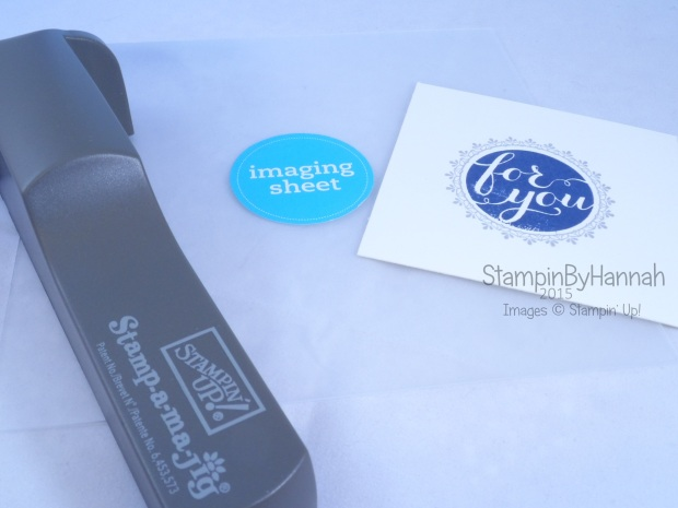 Stampin' Up! UK how to use a stamp-a-ma-jig