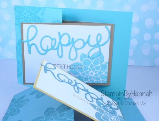 Stampin' Up! UK Joy Fold Fancy Fold