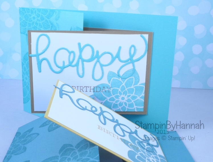 Stampin' Up! UK Joy Fold Fancy Fold