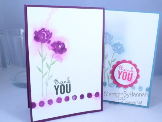 Stampin' Up! UK Pootles blog hop painted petals watercolour video tutorial