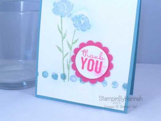 Stampin' Up! UK painted petals watercolour