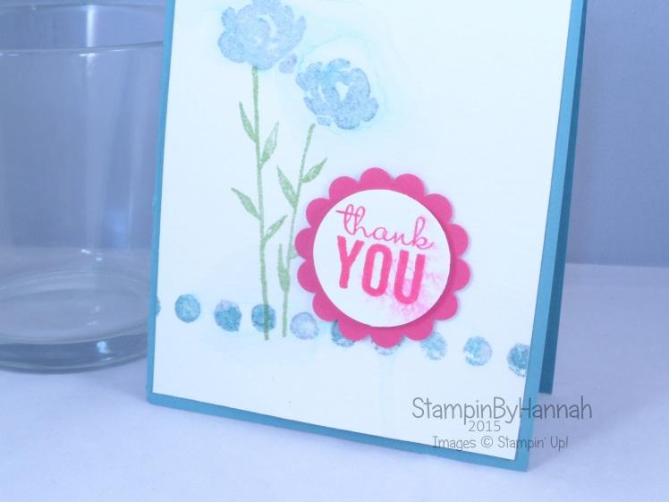 Stampin' Up! UK painted petals watercolour