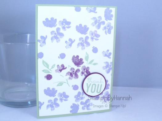 Stampin' Up! UK Pootles Painted Petals repeat stamping