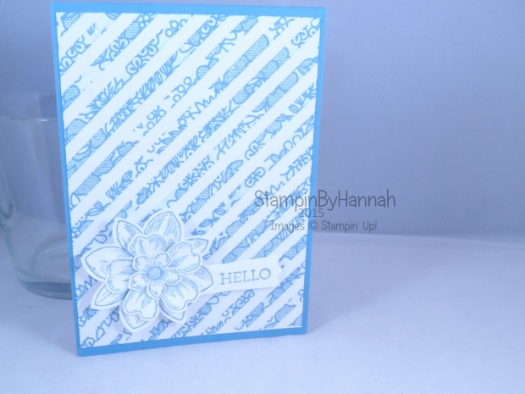 Stampin' Up! UK Sale-a-bration SAB stamping irresistibly yours flowers