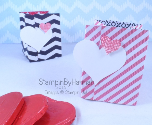 Stampin' Up! UK stacked with love Valentines treat bags