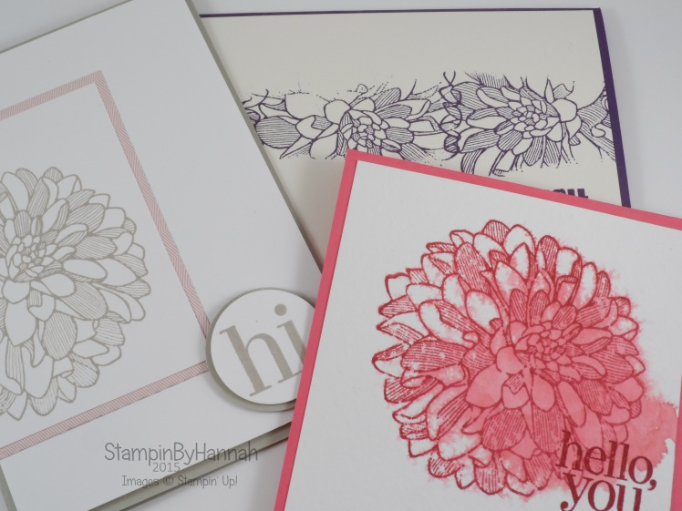 Stampin' Up! UK Cardmaking class April 2015