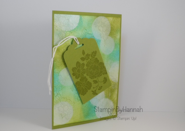 Stampin' Up! UK Bokeh Hello Darling