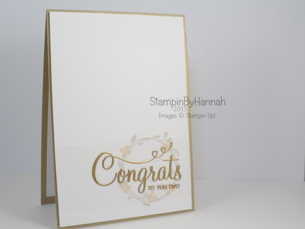Stampin' Up! UK Wedding Card Your Perfect Day