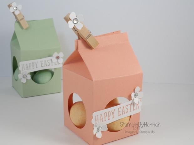 Stampin' Up! UK Easter Egg Milk Carton