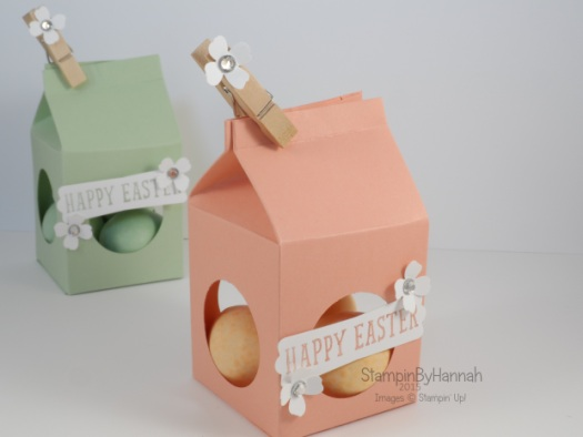 Stampin' Up! UK Easter Egg Milk Carton