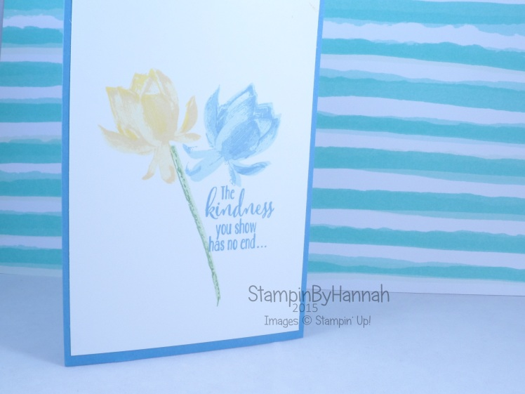 Stampin' Up! UK Sale-a-bration Lotus Blossom
