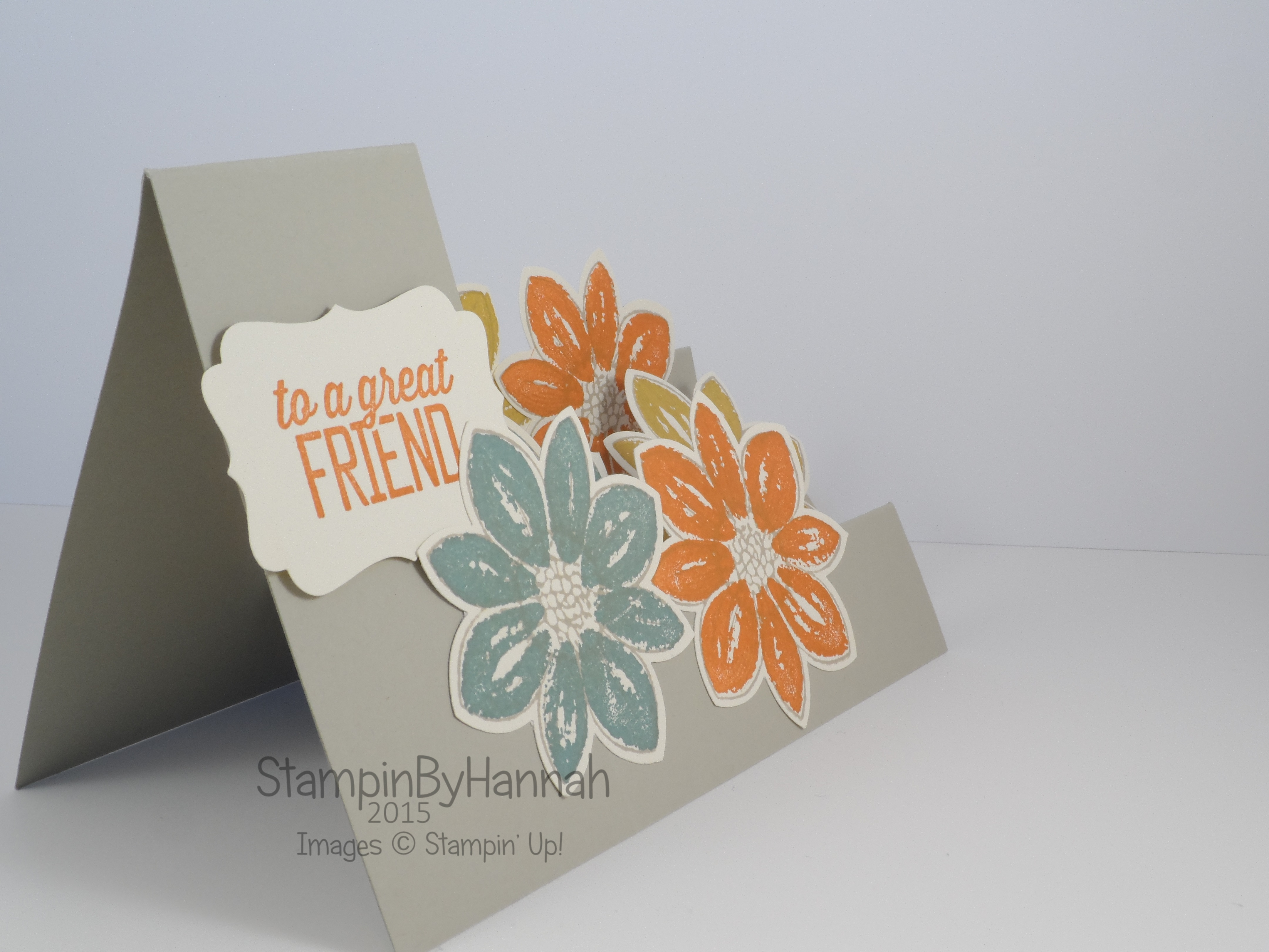 Fancy Fold Friday Side Stepper Card Stampinbyhannah