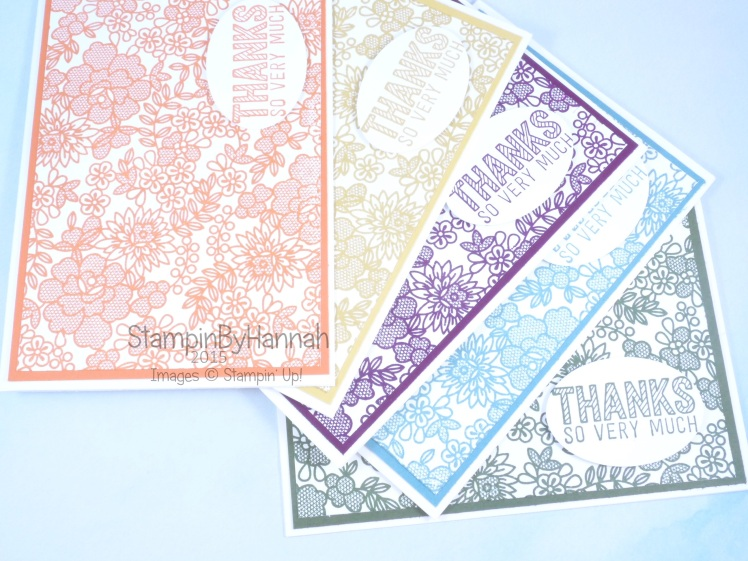 Stampin' Up! UK Something Lacy In Colours Thank You