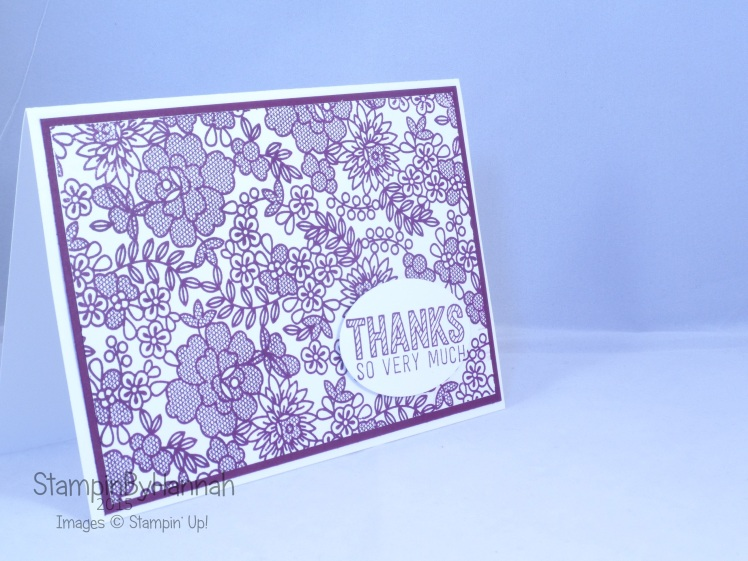 Stampin' Up! UK something lacy blackberry bliss