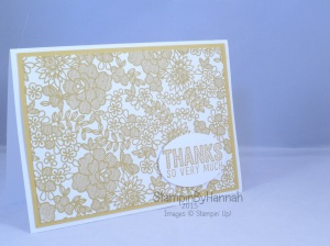 Stampin' Up! UK something lacy hello honey