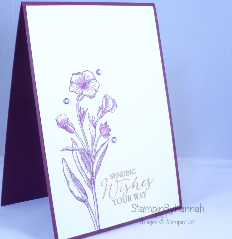 Stampin' Up! UK Butterfly Basics Blackberry Bliss