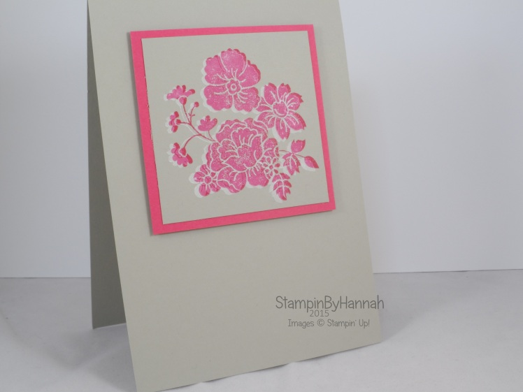 Stampin' Up! UK Hello Darling Ghost Stamping