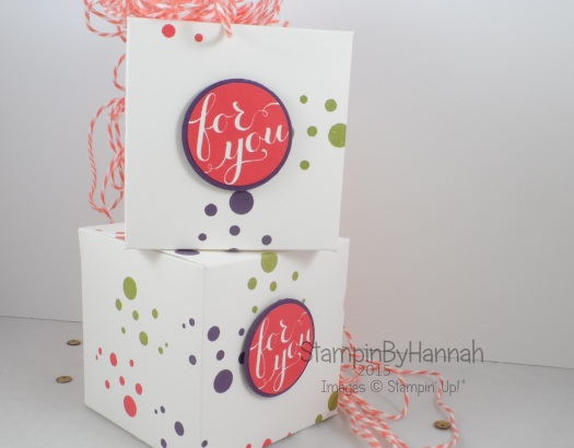 Stampin' Up! UK Box video tutorial perpetual birthday calender