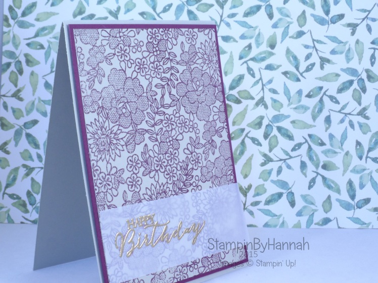 Stampin' Up! UK Something Lacy Birthday card