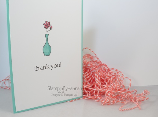Stampin' Up! UK Vivid Vases Thank you