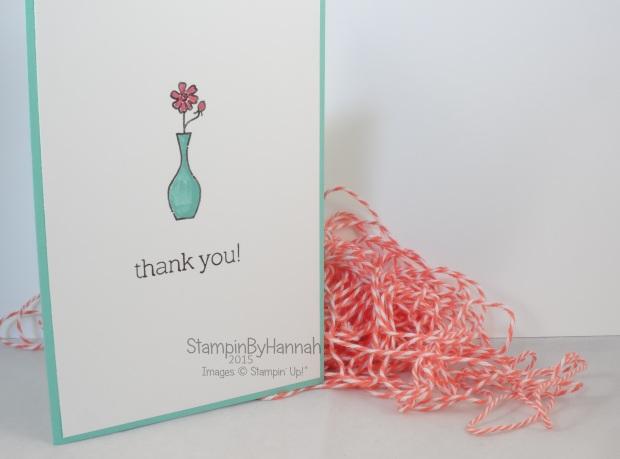 Stampin' Up! UK Vivid Vases Thank you