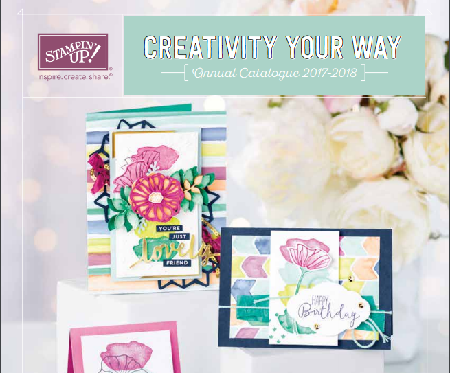 Free copy of the Stampin' Up! catalogue UK