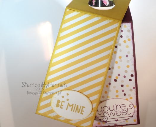 Stampin' Up! UK wine gift tag