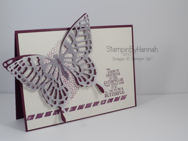 Stampin' Up! UK Butterfly Basics die cut butterfly