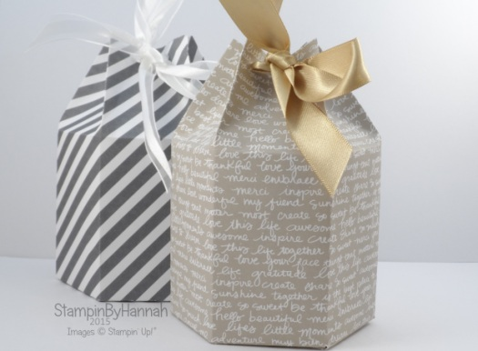 Hexagonal gift bag