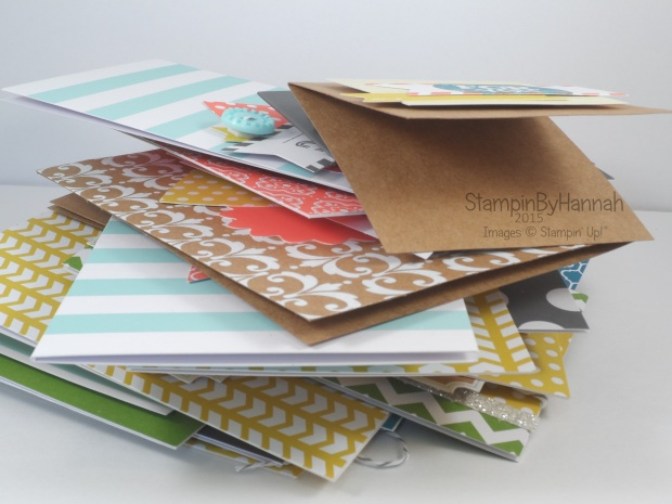 Stampin' Up! UK Everyday Occasions Card stack