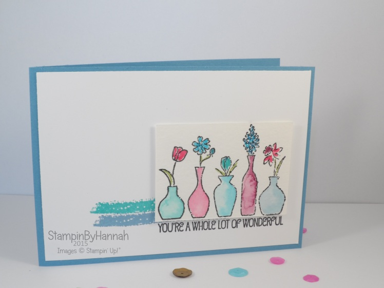 Stampin' Up! UK Vivid Vases Freshly Made Sketches