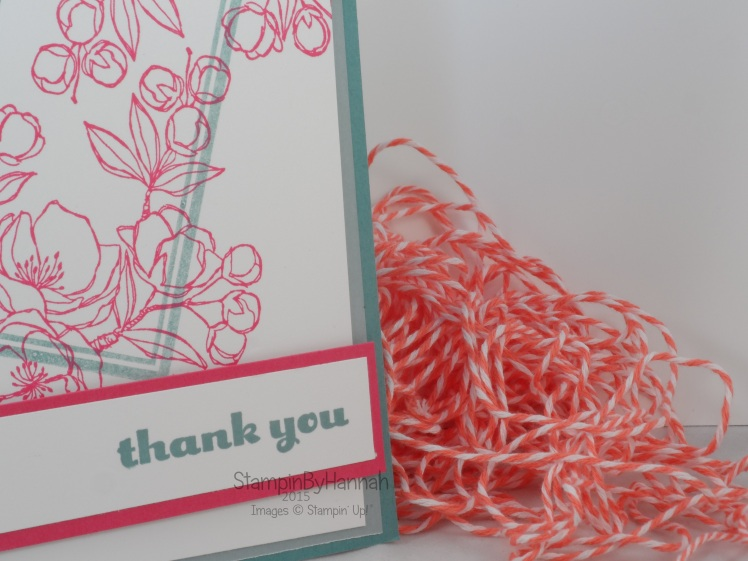 Stampin' Up! UK Indescribable gift thank you