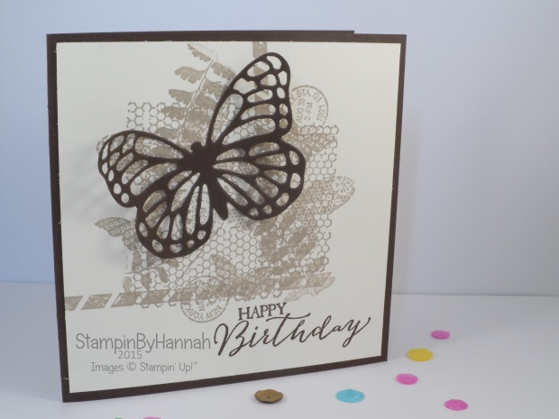 Stampin' Up! UK butterfly basics collage