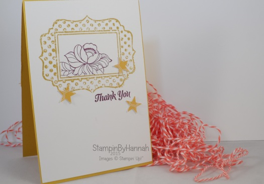 Stampin' Up! UK fun frames bouquet toss